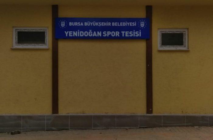 Yenidoğan spor tesisleri tabelası