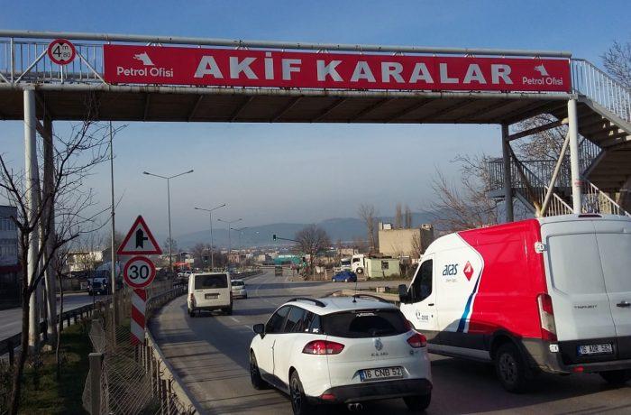 Akif Karalar Köprü Reklam alanı