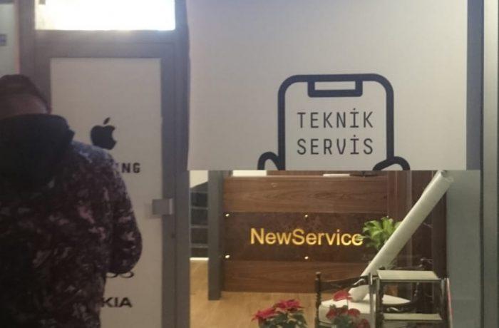 New Service apple ışıklı kutu harf