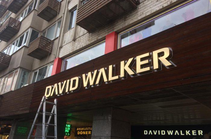 David Walker Paslanmaz Kutu Harf Tabela