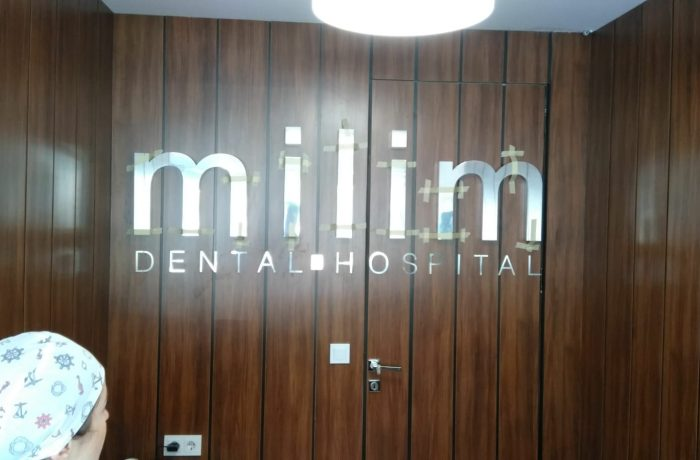 Milim Dental Paslanmaz kutu harf