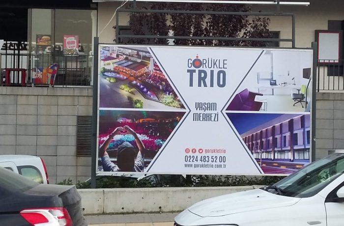 Görükle Trio Billboard afiş değişimi