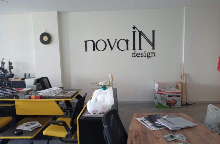 Novain Design ışıksız tabela